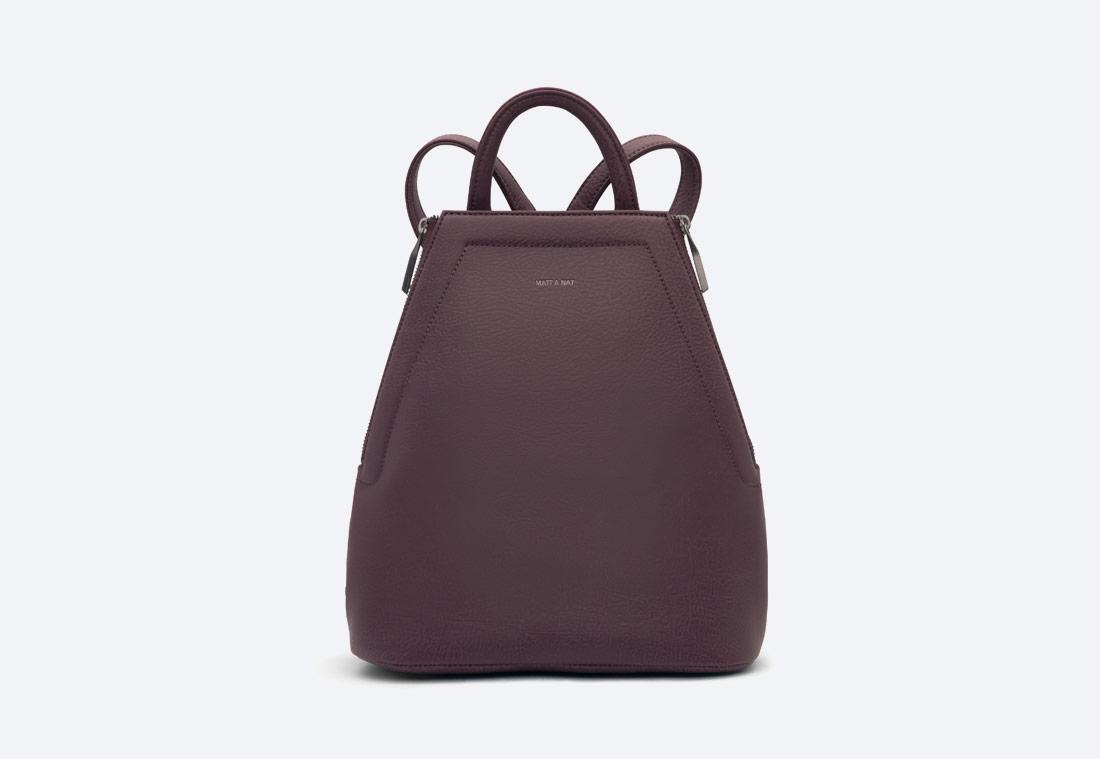 MATT & NAT — Chanda — dámský batoh — elegantní — tmavě fialový — vegan, sustainable