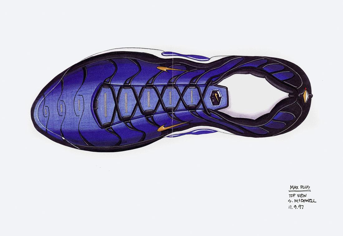 Nike Air Max Plus — skica