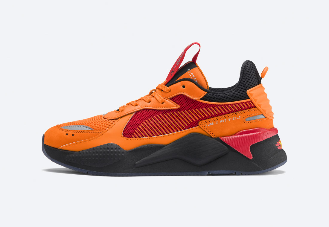 PUMA RS-X TOYS HOT WHEELS CAMARO — boty — sneakers — oranžové