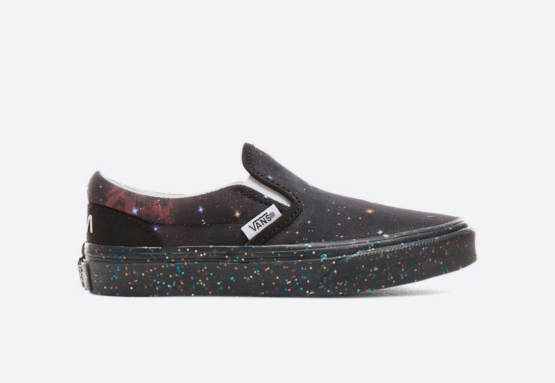 Vans x NASA — Space Voyager Classic Slip-On — boty bez tkaniček — tenisky — dětské