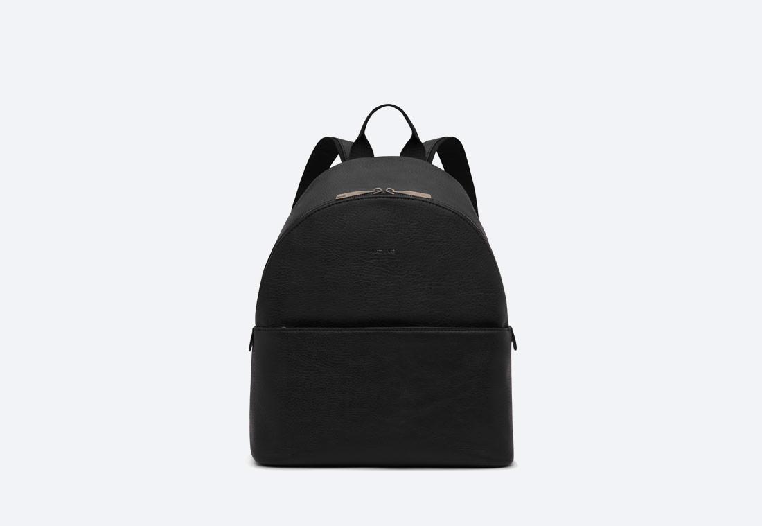 MATT & NAT — July — dámský batoh — elegantní — černý — vegan, sustainable