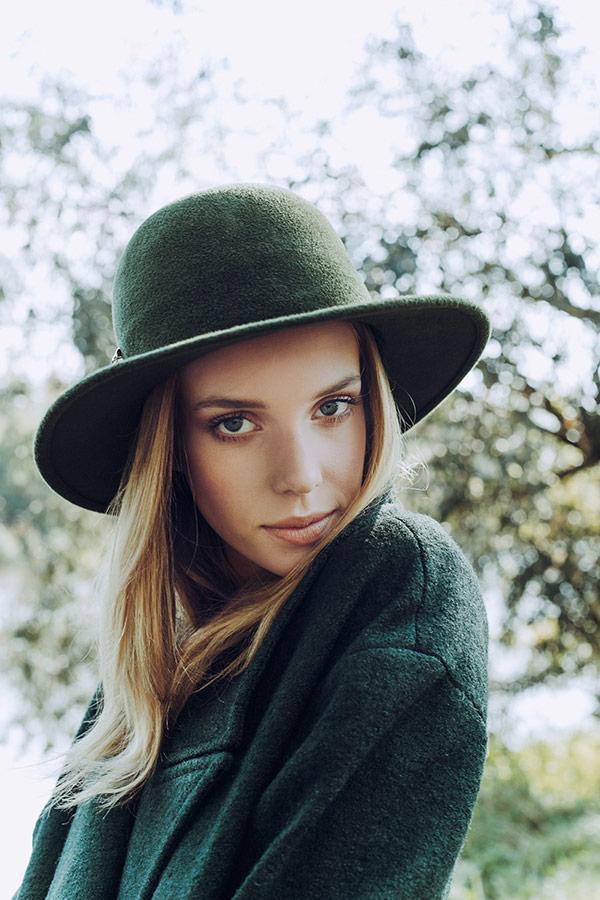 Paris+Hendzel — zimní klobouk Derby — dámský — zelený