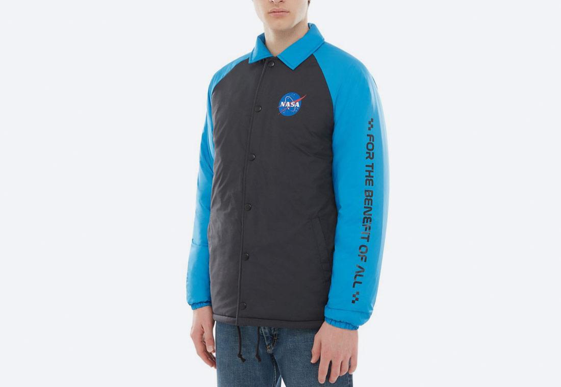 Vans x NASA — Space Voyager Torrey Padded MTE Jacket — bunda s límcem — černá, modrá — pánská