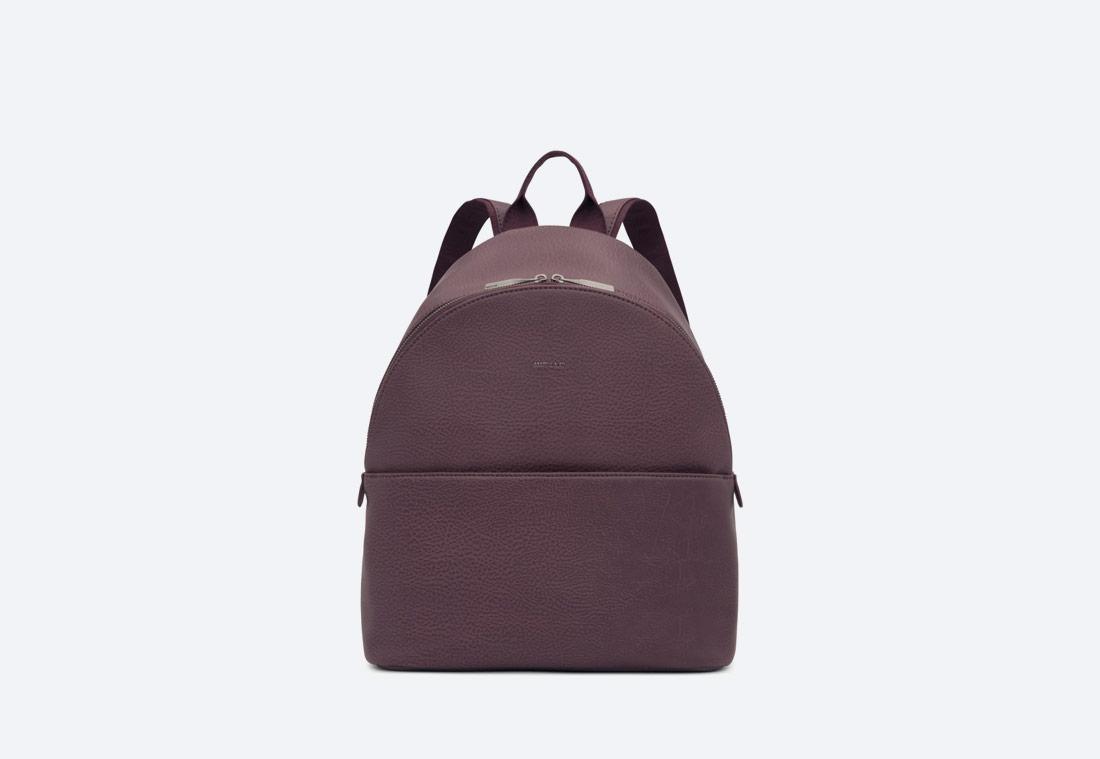 MATT & NAT — July — dámský batoh — elegantní — tmavě fialový — vegan, sustainable
