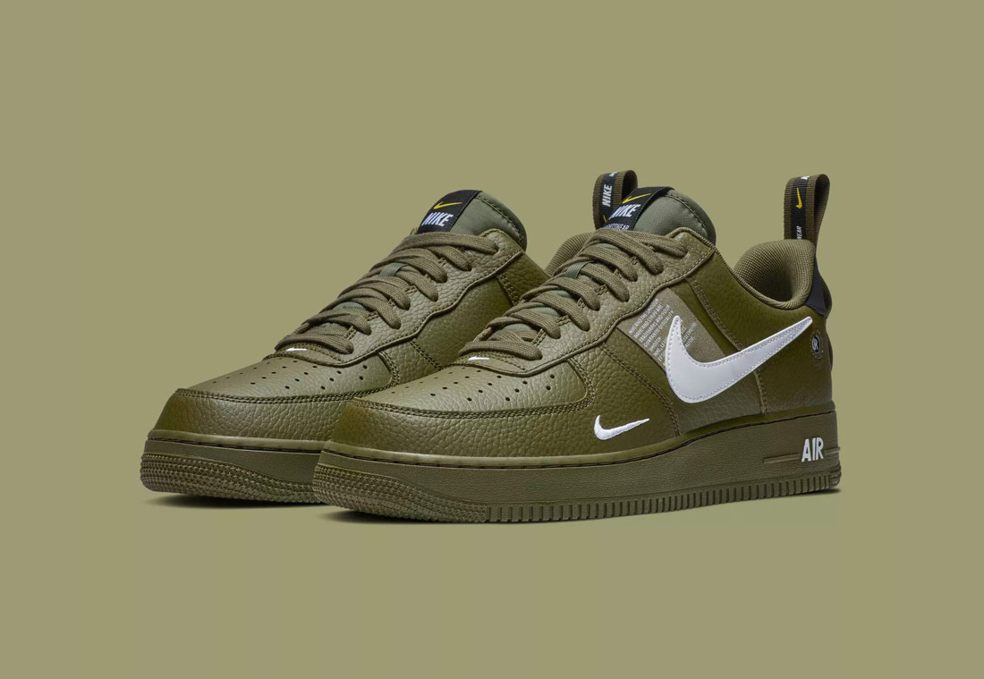 Nike Air Force 1 '07 LV8 Utility — pánské boty — tenisky — sneakers — tmavě zelené (army green)