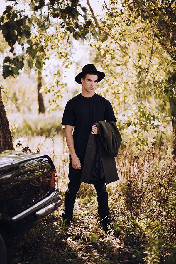 Paris+Hendzel — zimní klobouk Fedora — pánský — černý