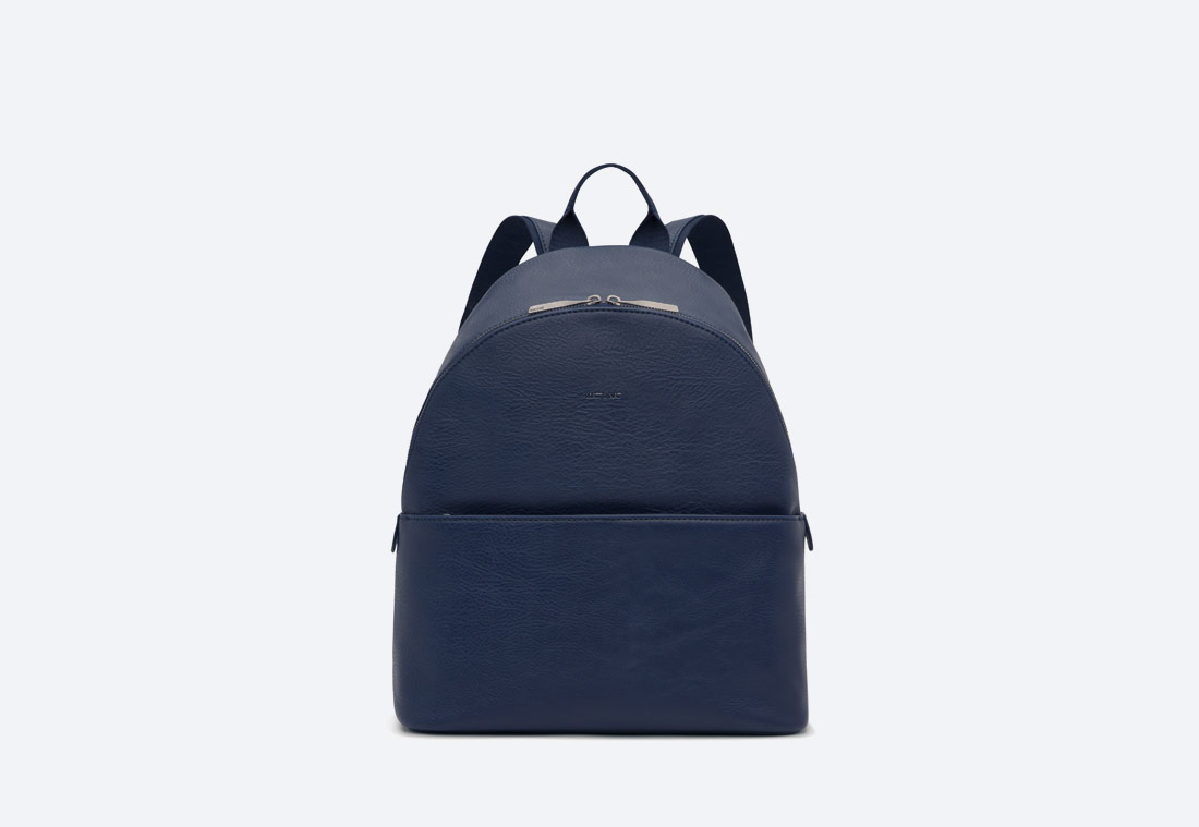 MATT & NAT — July — dámský batoh — elegantní — tmavě modrý — vegan, sustainable