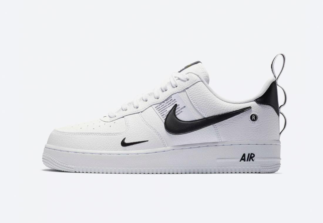 Nike Air Force 1 '07 LV8 Utility — pánské boty — tenisky — sneakers — bílé