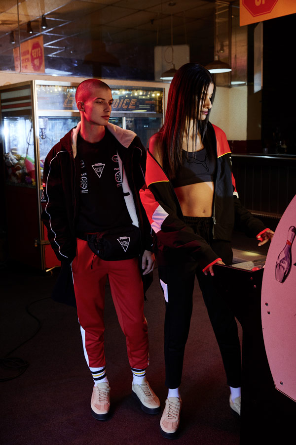 PUMA x XO — sportovní bundy — tepláky — legíny — boty Terrains Sneakers — AW 18