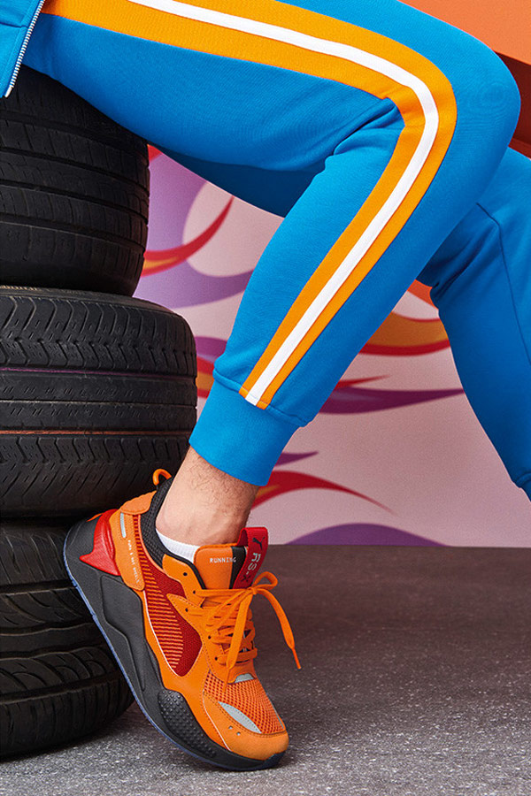 PUMA RS-X TOYS HOT WHEELS CAMARO — oranžové boty — sneakers