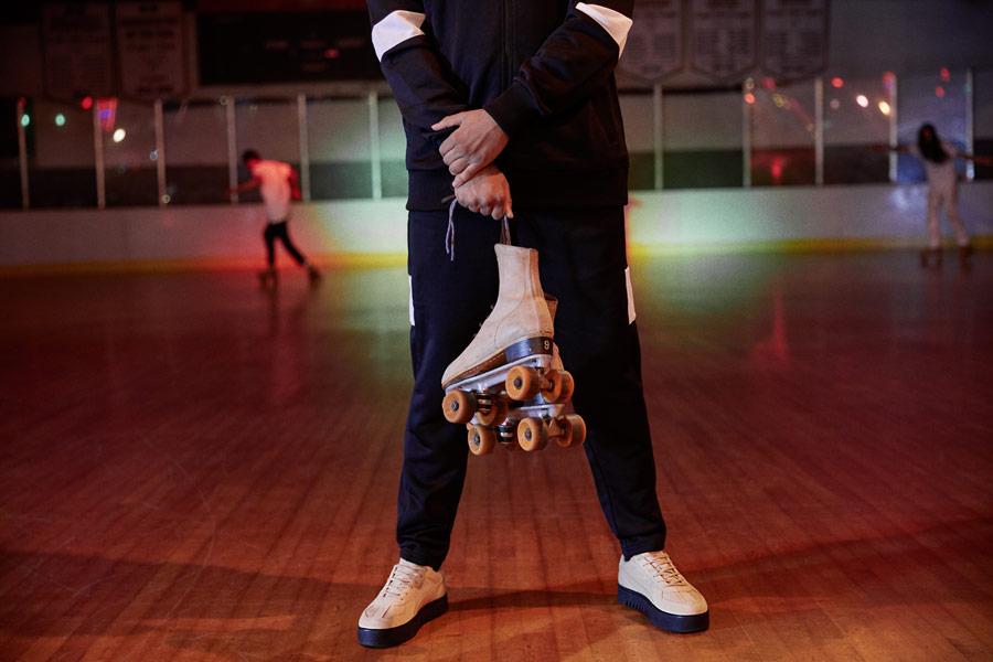 PUMA x XO — černé tepláky — boty Terrains Sneakers — AW 18
