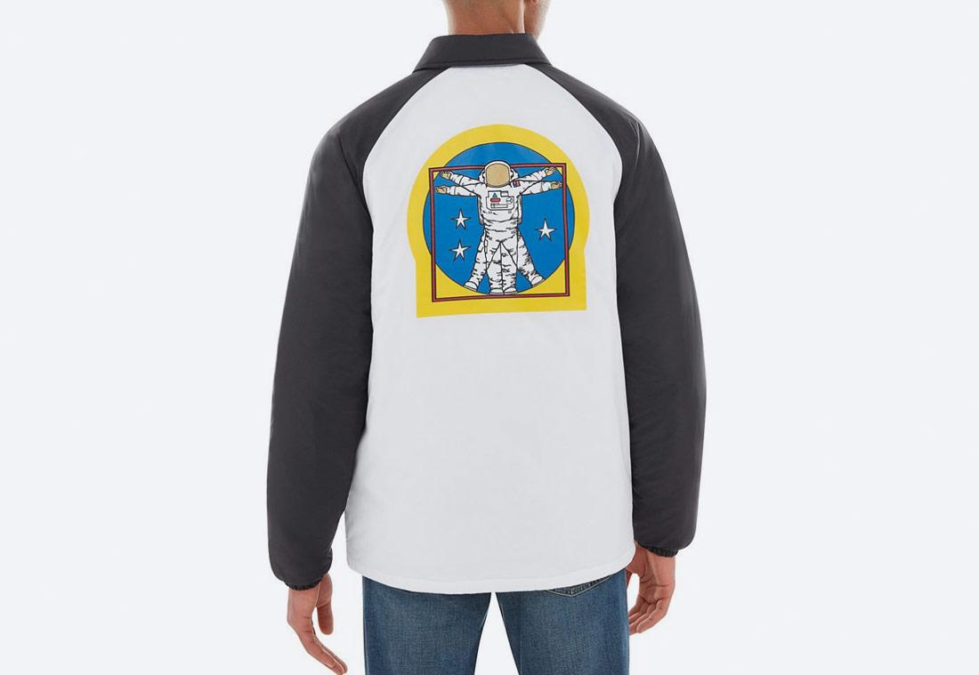 Vans x NASA — Space Voyager Torrey Padded MTE Jacket — bunda s límcem — bílá — pánská