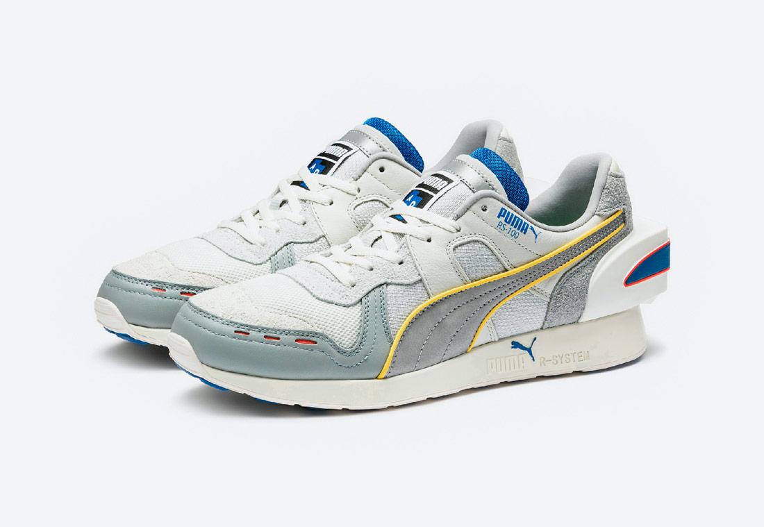 PUMA x ADER ERROR RS-100 — boty — tenisky — sneakers — pánské, dámské — šedé