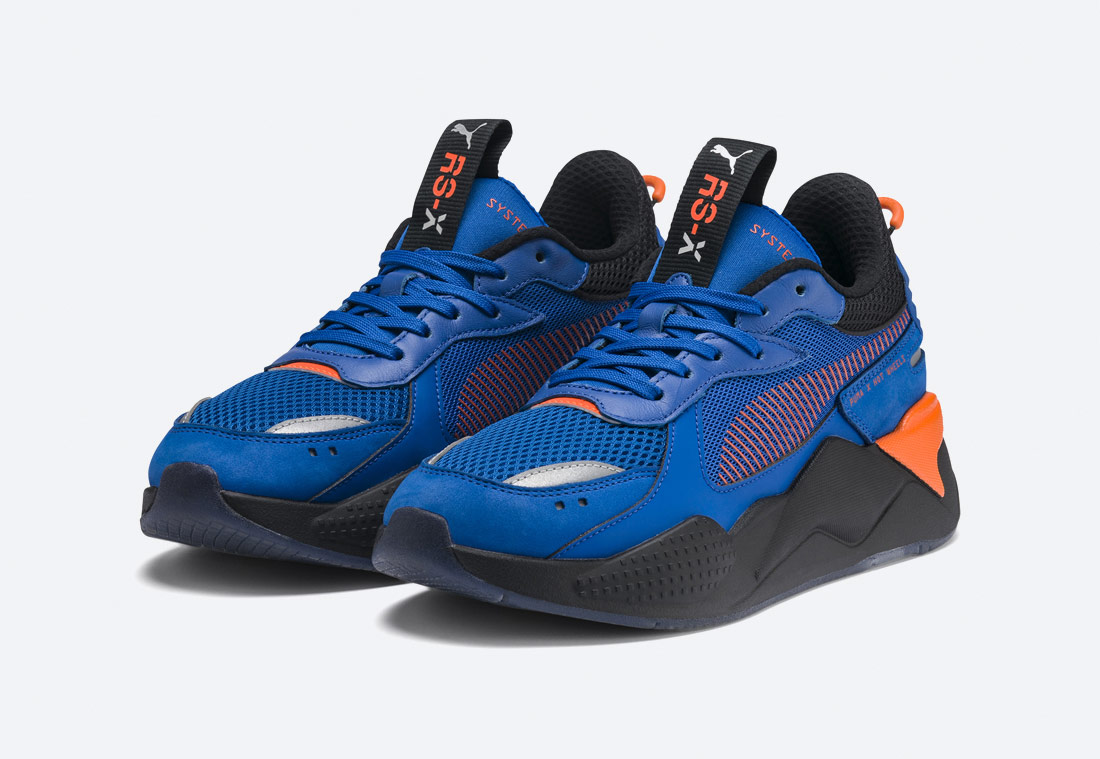 PUMA RS-X TOYS HOT WHEELS BONE SHAKER — modré boty — sneakers
