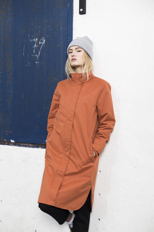 Selfhood — dlouhá podzimní parka — dámská — oranžová