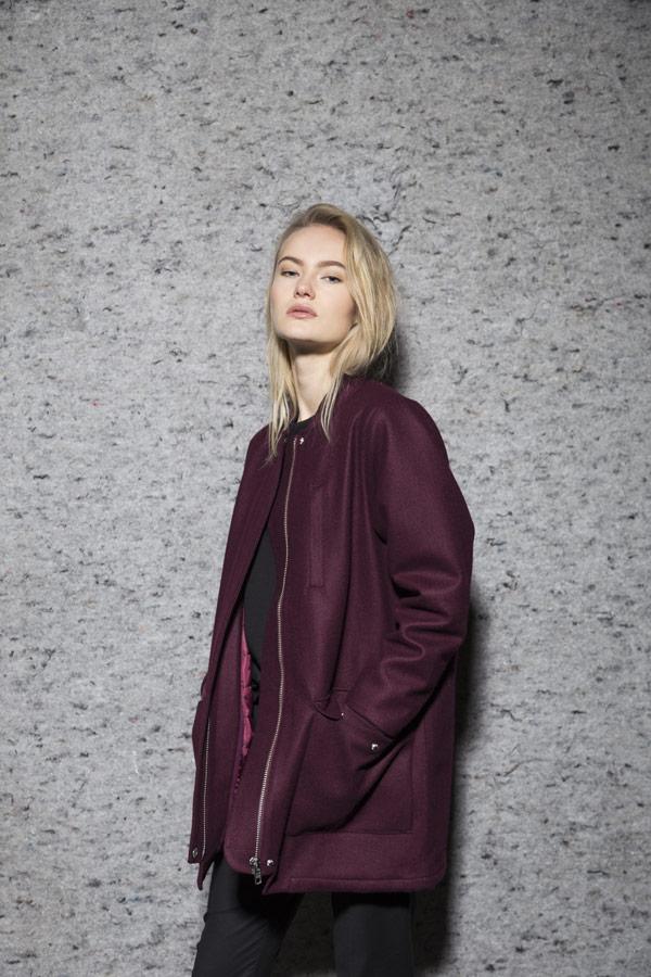 Selfhood — podzimní/zimní bunda — dámská — vínově červená