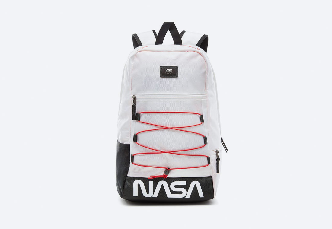 Vans x NASA — Space Voyager Snag Plus Backpack — batoh — bílý