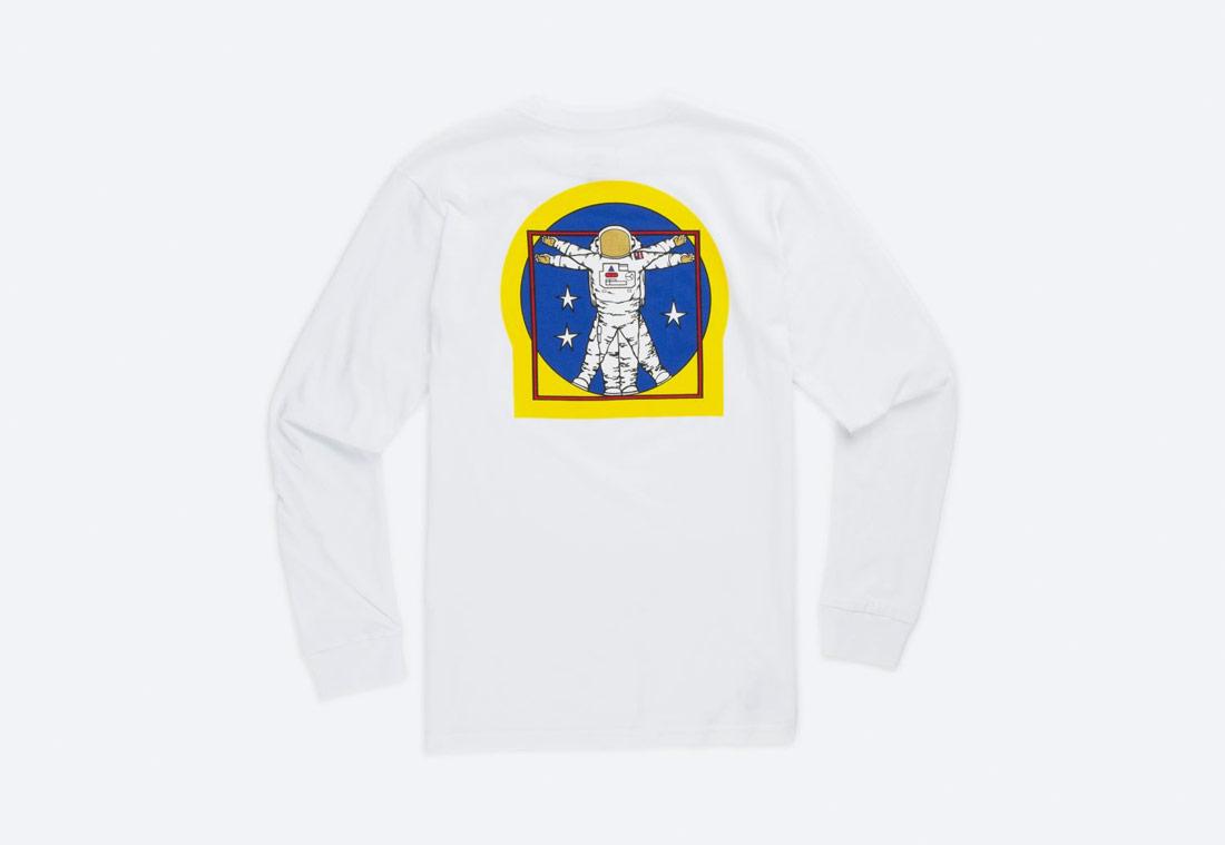 Vans x NASA — Space Voyager Man Long Sleeve T-Shirt — tričko s dlouhým rukávem — bílé — dětské