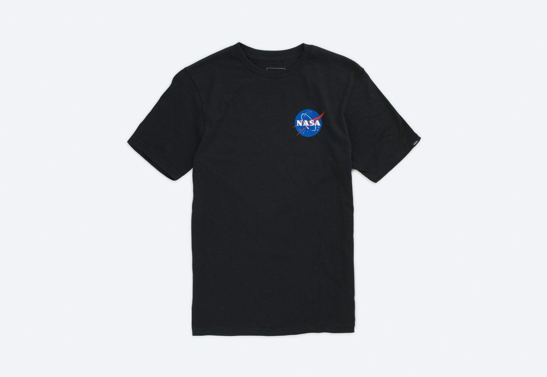 Vans x NASA — Space Voyager T-Shirt — tričko s krátkým rukávem — černé — dětské