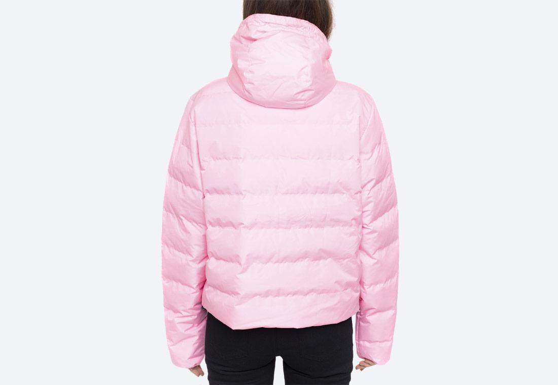 Ellesse Filetta Bubblee — dámská růžová péřová bunda přes hlavu s kapucí — dámský růžový anorak