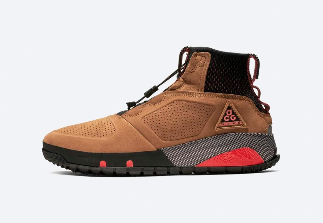 Nike ACG Ruckle Ridge — kotníkové boty — sneakerboots — pánské — zimní — outdoorové — světle hnědé