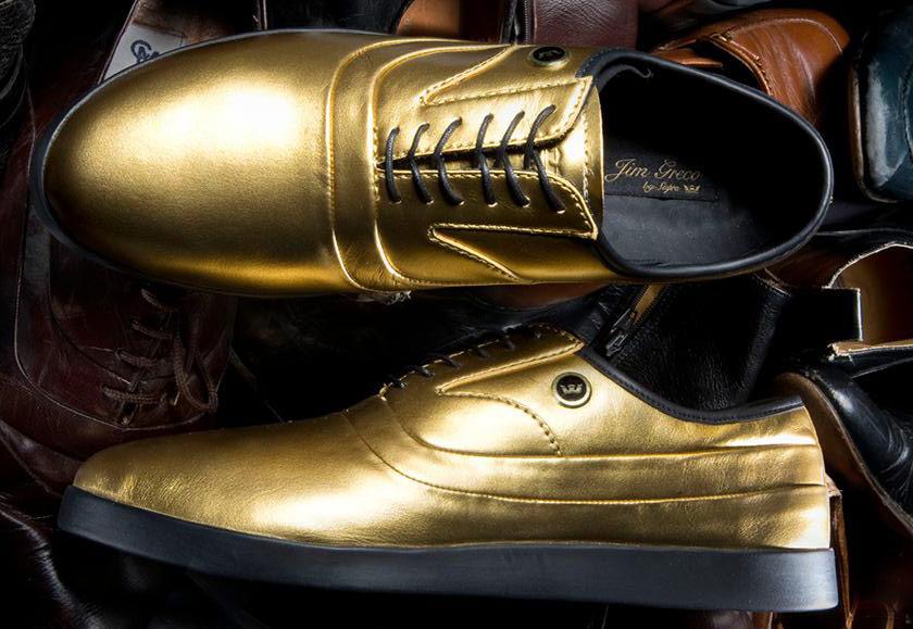 Supra Greco — polobotky — pánské — boty — kožené — zlaté c4863ab287