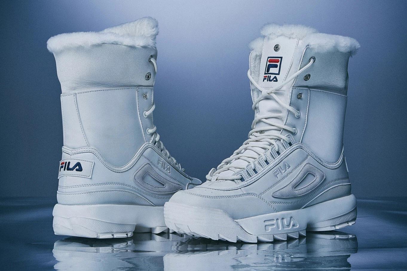 Fila Disruptor 2 Winter Hi-Top Boots — zimní boty — bílé — winter Hi-Top Boots