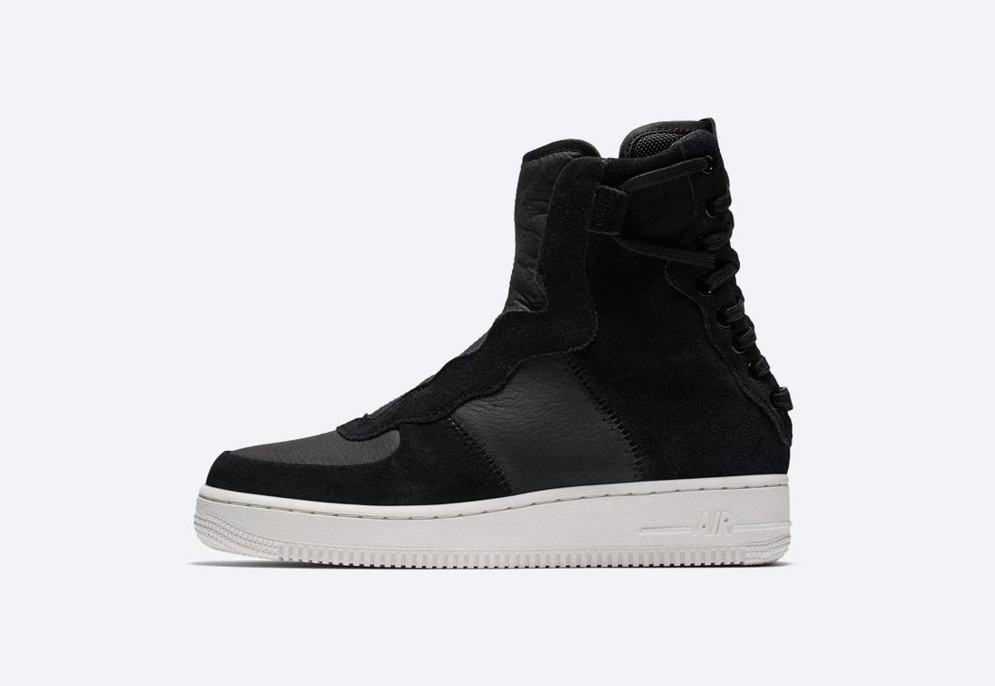 Nike Air Force 1 Rebel XX Premium — dámské vysoké boty — kotníkové — zimní — černé