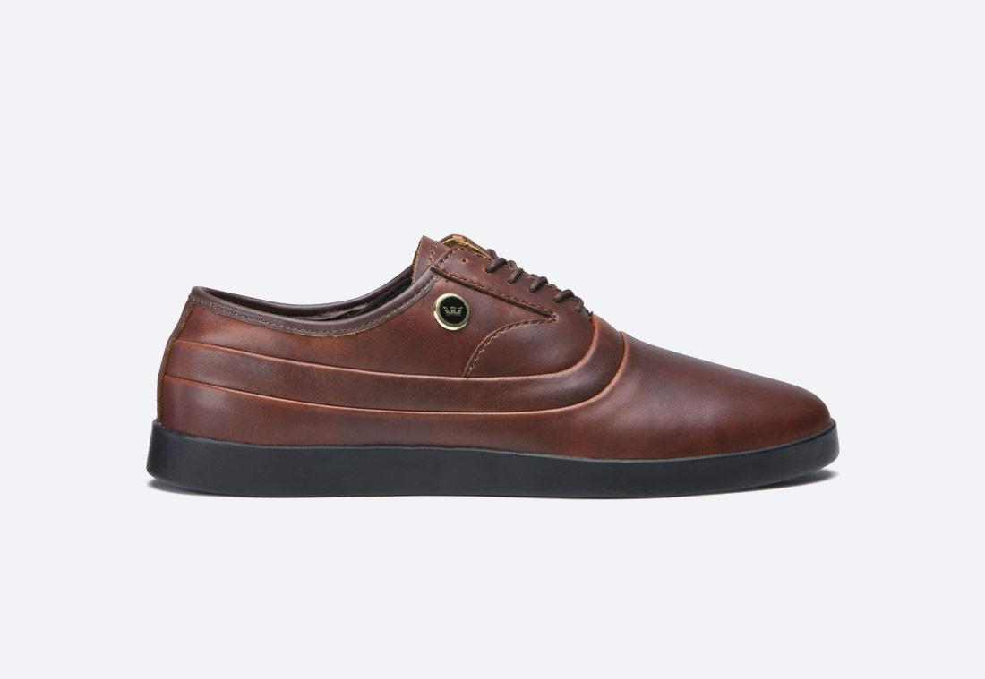 Supra Greco — polobotky — pánské — boty — kožené — hnědé