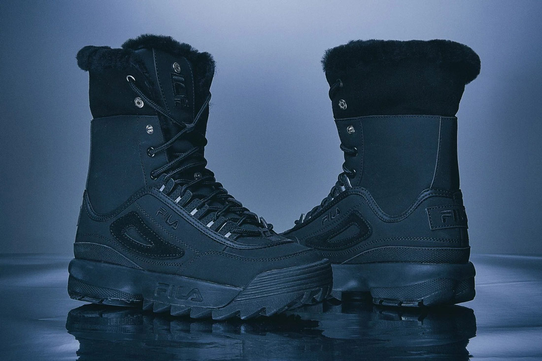 Fila Disruptor 2 Winter Hi-Top Boots — zimní boty — černé — winter Hi-Top Boots
