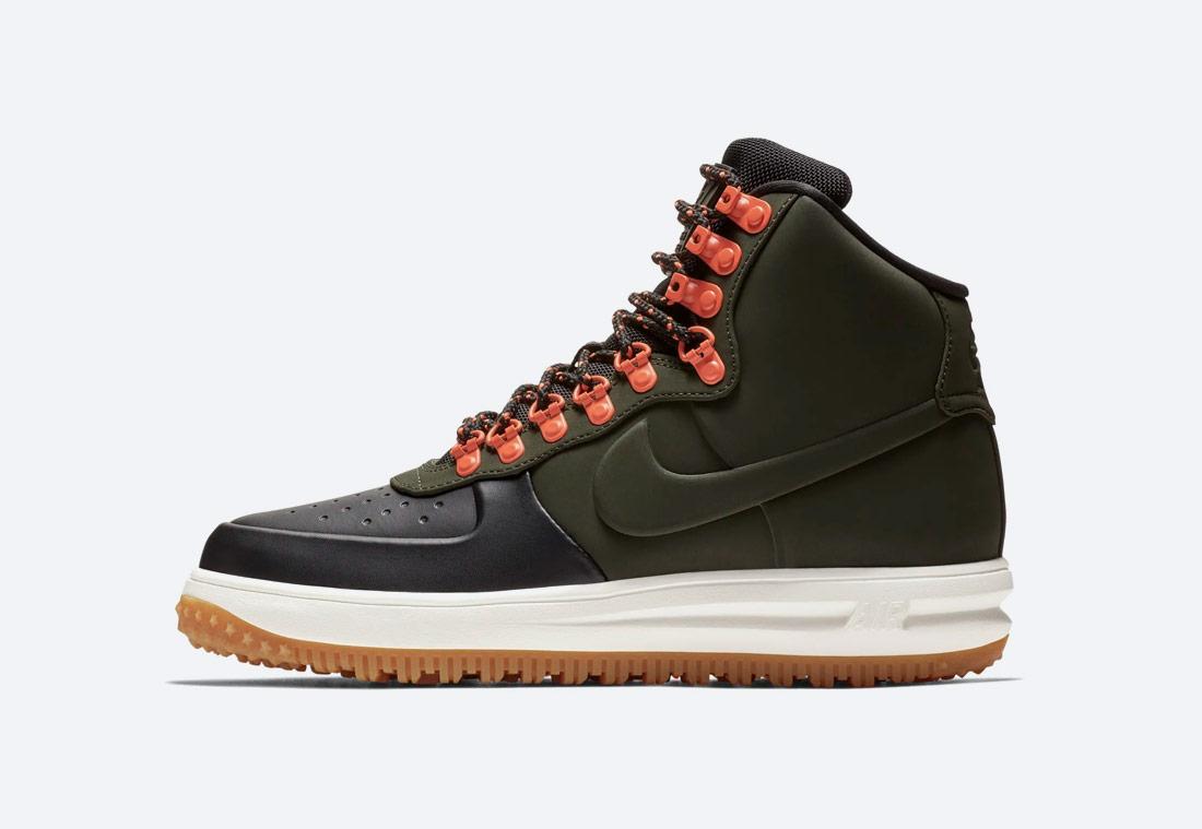 Nike Lunar Force 1 '18 — zimní boty — pánské — kotníkové — tmavě zelené