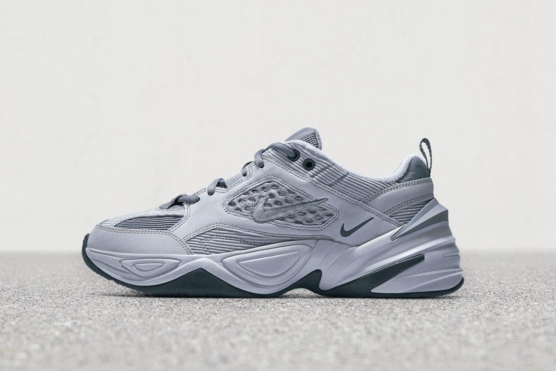 Nike M2K Tekno — boty — tenisky — sneakers — ocelově šedé — modro-šedé