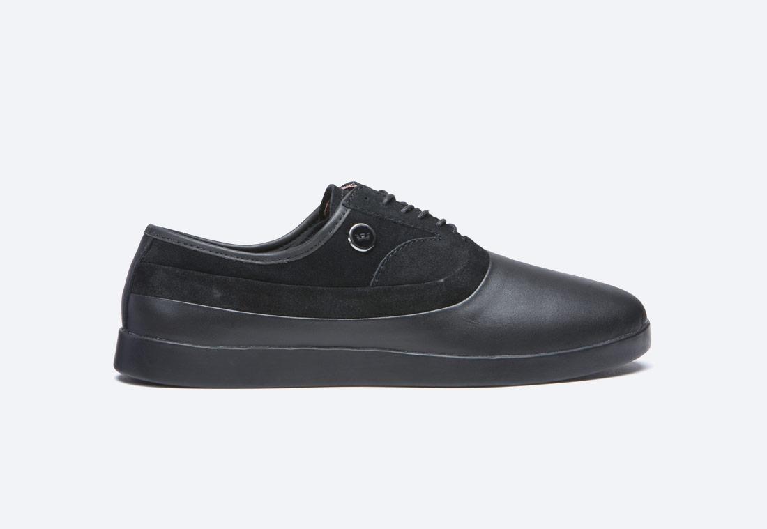 Supra Greco — polobotky — pánské — boty — kožené — černé