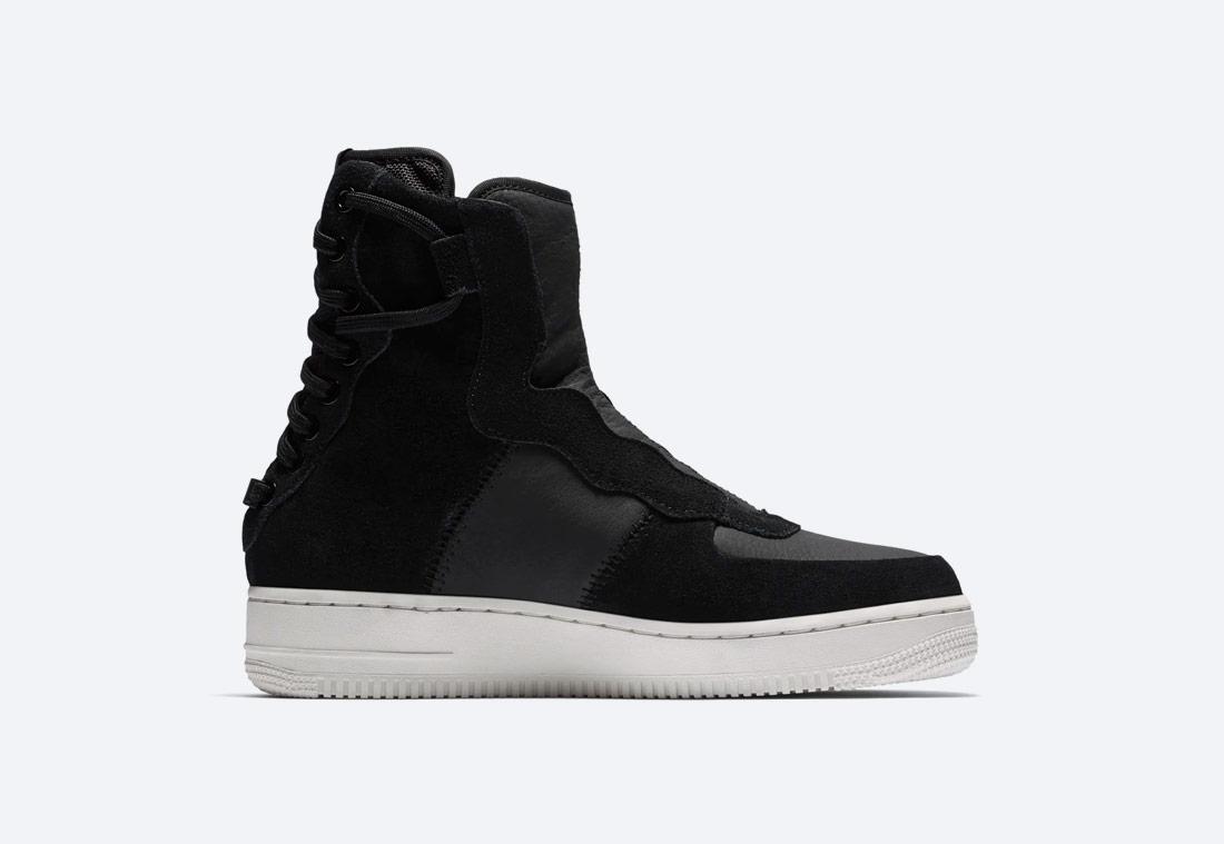 Nike Air Force 1 Rebel XX Premium — vysoké dámské boty — kotníkové — zimní — černé