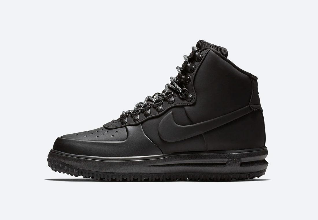 Nike Lunar Force 1 '18 — zimní boty — pánské — kotníkové — černé
