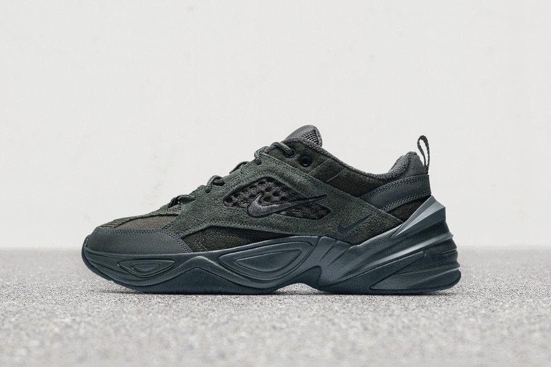 Nike M2K Tekno — boty — tenisky — sneakers — zmavě zelené