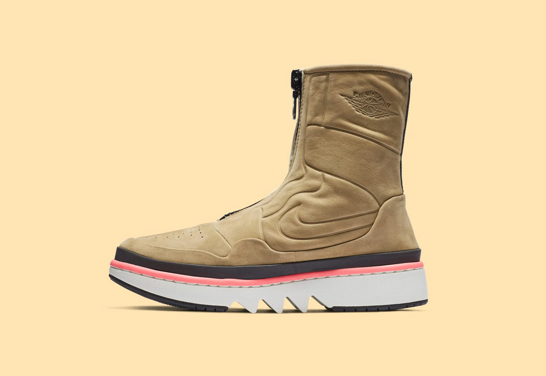 Nike Air Jordan 1 Jester XX — dámské vysoké boty bez tkaniček — zimní — béžové, pískové