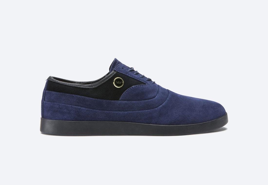 Supra Greco — polobotky — pánské — boty — semišové — modré