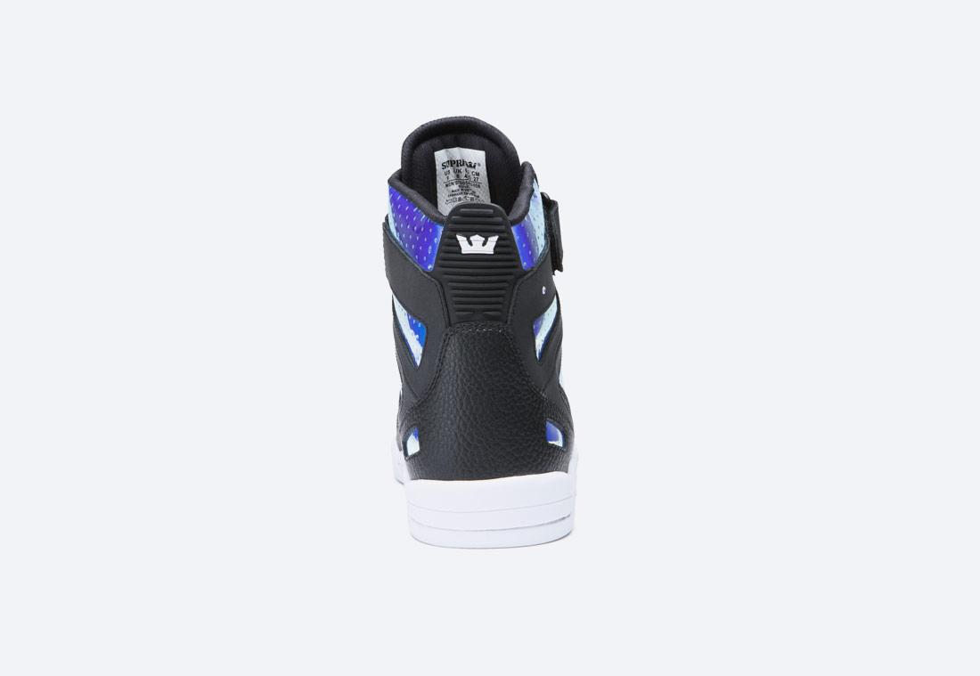 Supra x Skullcandy Breaker — kotníkové boty — černé, duhové / black chameleon — pánské, dámské — sneakers