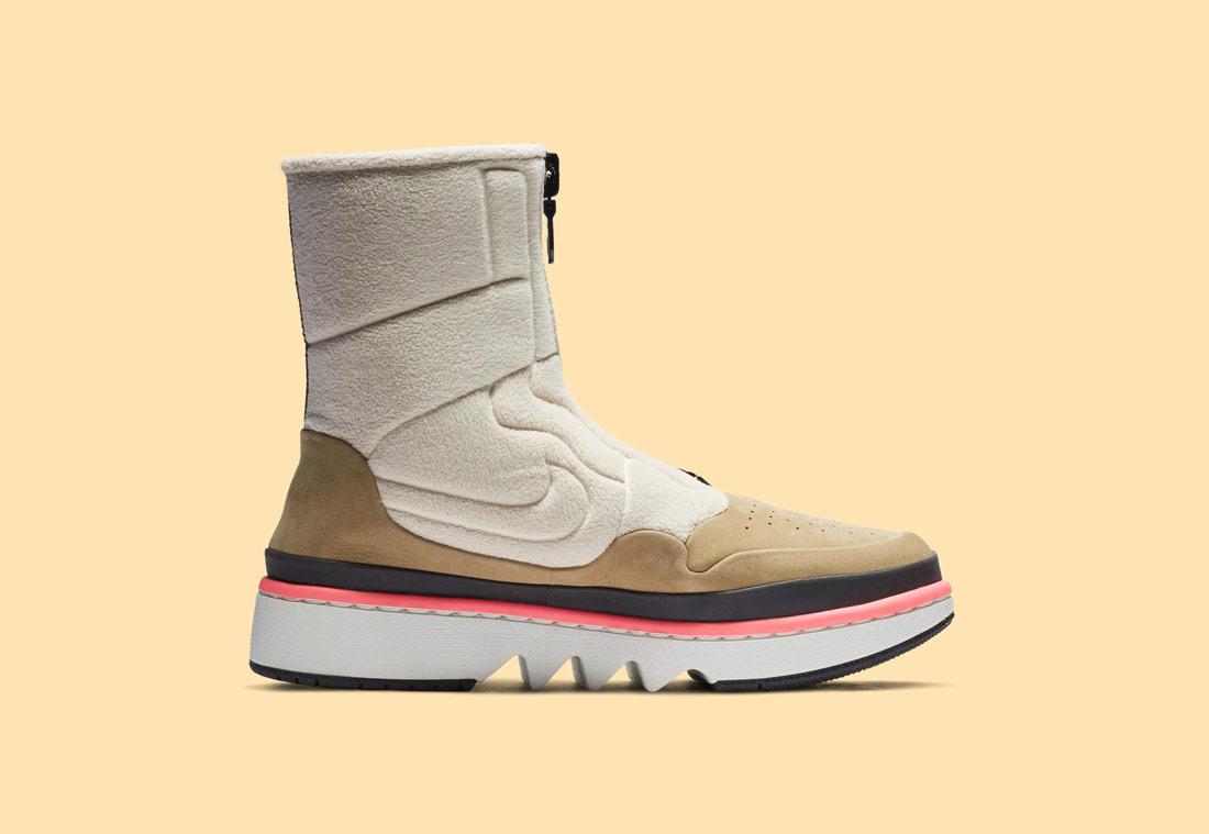 Nike Air Jordan 1 Jester XX — dámské zimní boty bez tkaniček — vysoké — béžové, pískové