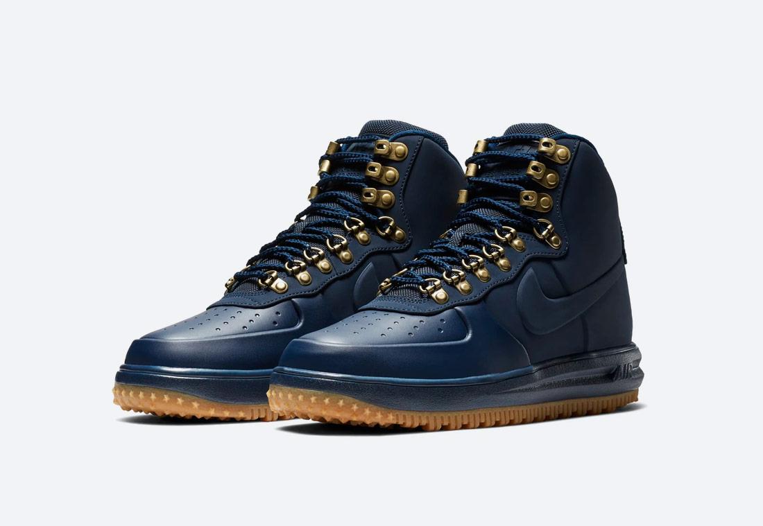 Nike Lunar Force 1 '18 — zimní boty — pánské — kotníkové — modré