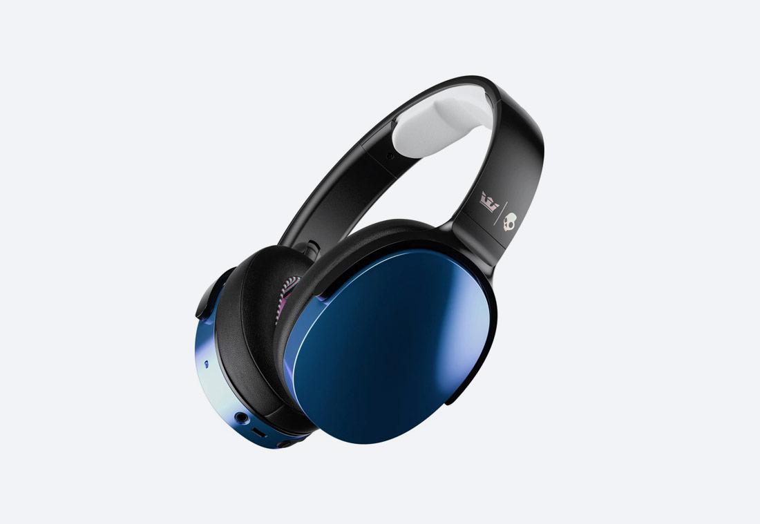 Supra x Skullcandy Hesh 3 Wireless Over-Ear Headphone — bezdrátová sluchátka — černá, duhová / black chameleon