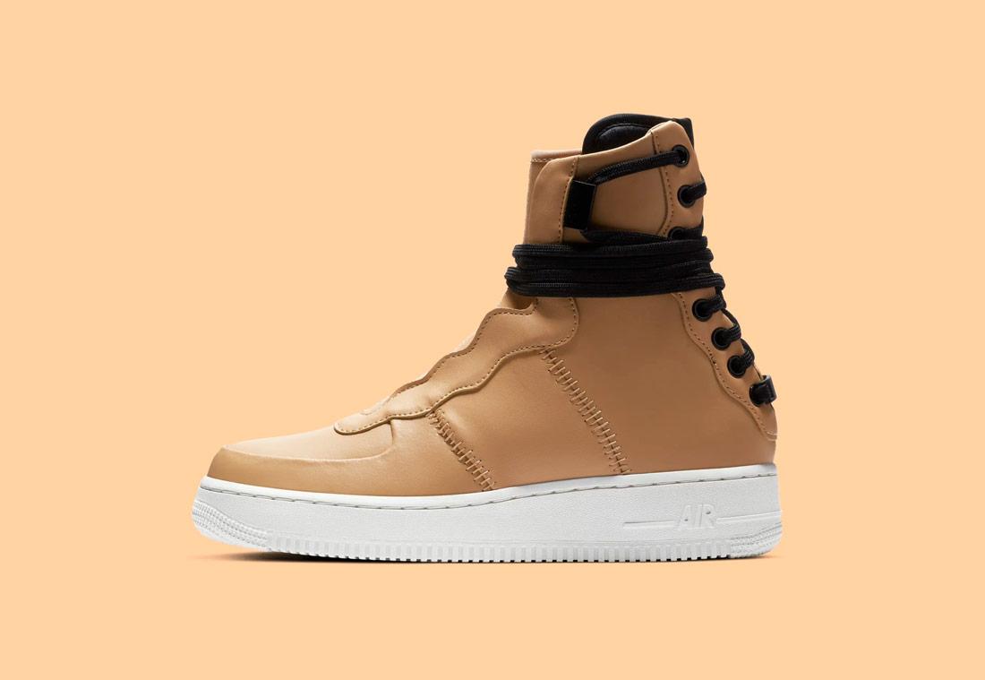 Nike Air Force 1 Rebel XX — dámské vysoké boty — kotníkové — zimní — béžové, pískové