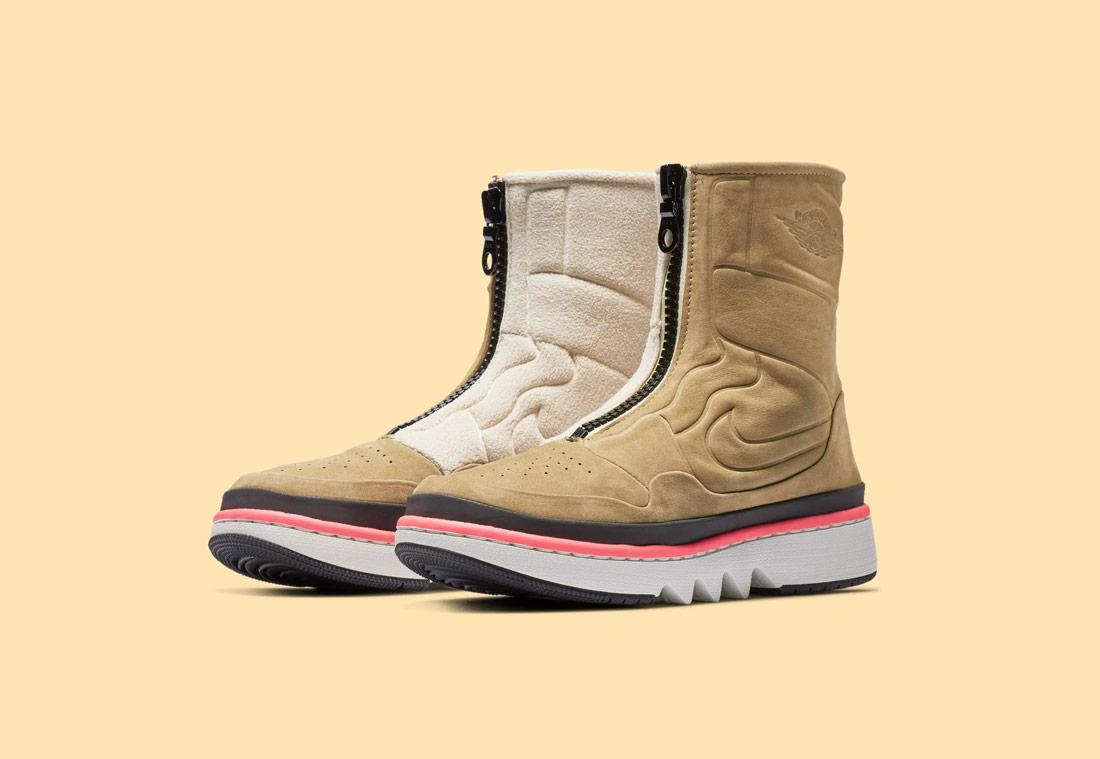 Nike Air Jordan 1 Jester XX — vysoké dámské boty bez tkaniček — zimní — béžové, pískové