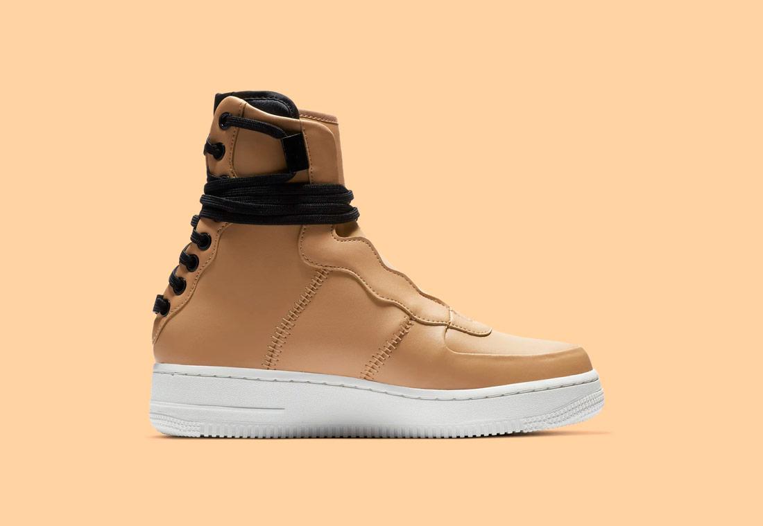 Nike Air Force 1 Rebel XX — vysoké dámské boty — kotníkové — zimní — béžové, pískové