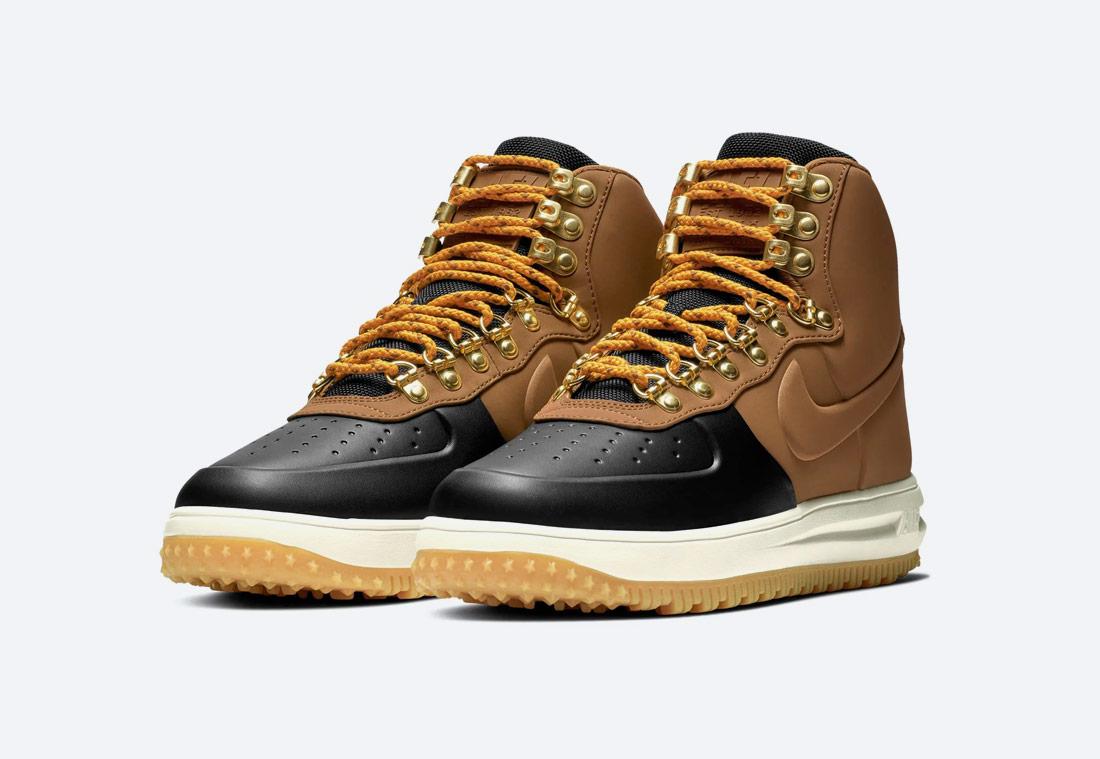 Nike Lunar Force 1 '18 — zimní boty — pánské — kotníkové — béžové