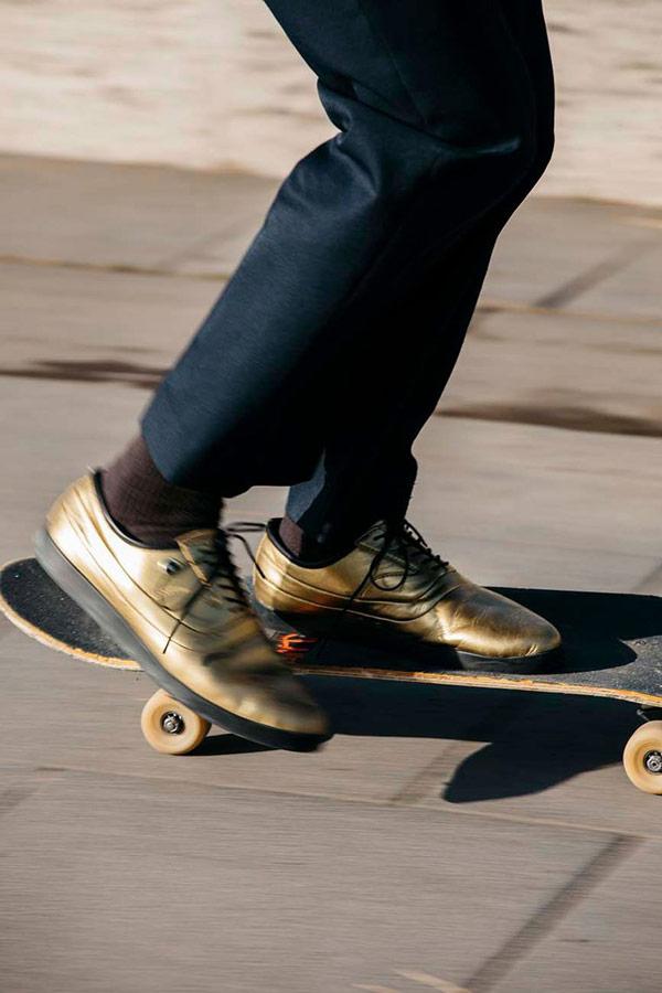 ... Supra Greco — polobotky — pánské — boty — kožené — zlaté bd964cc3bd