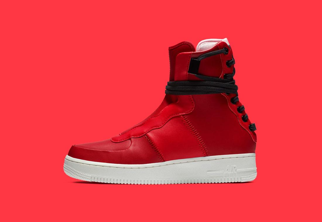 Nike Air Force 1 Rebel XX — dámské vysoké boty — kotníkové — zimní — červené