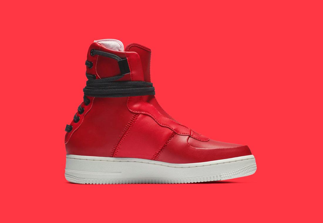 Nike Air Force 1 Rebel XX — vysoké dámské boty — kotníkové — zimní — červené