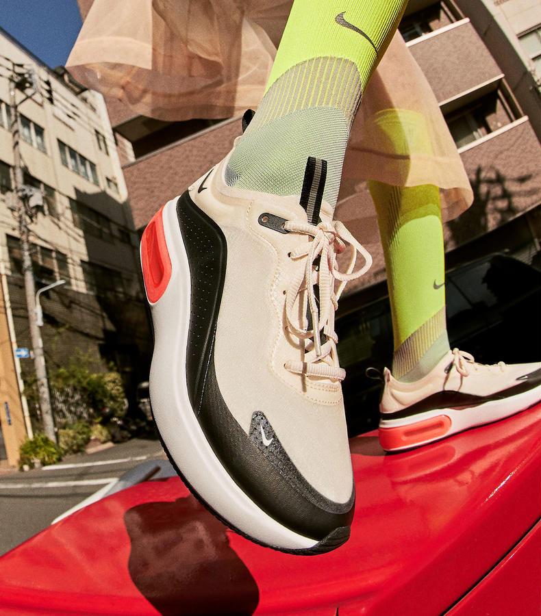 Nike Air Max Dia — dámské boty — sneakers — tenisky — černo-bílé — look
